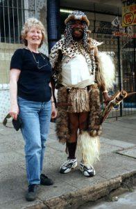 Trish with a local Zulu