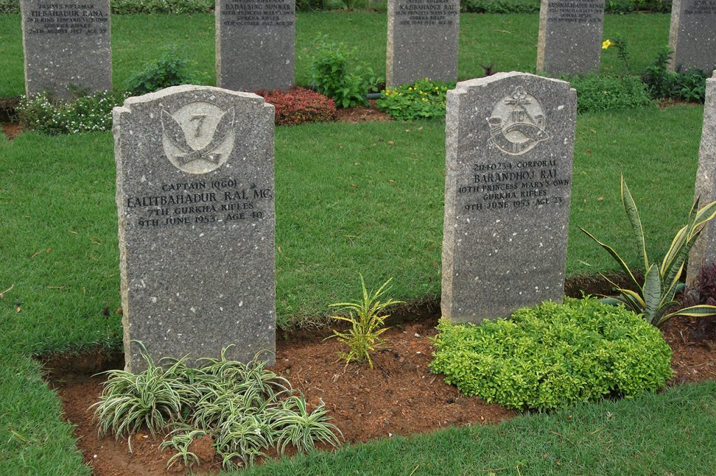 These Gurkha graves are from 1953