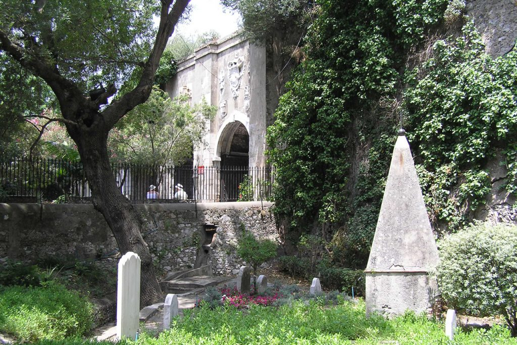 Part of the Gibralter Cemetery