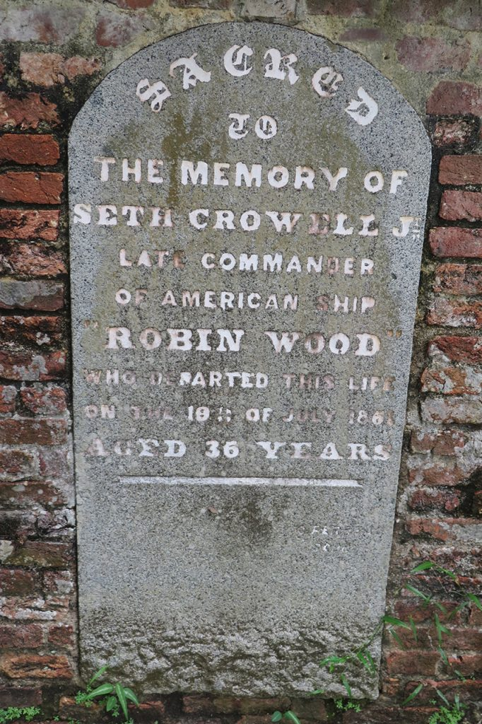 Seth Crowell Jnr, late Commander of American ship Robin Wood