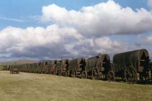Full-sized bronze wagons Boer War