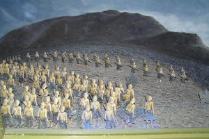 One of the clever diorama of Highland Brigade attack in Magersfontein Museum