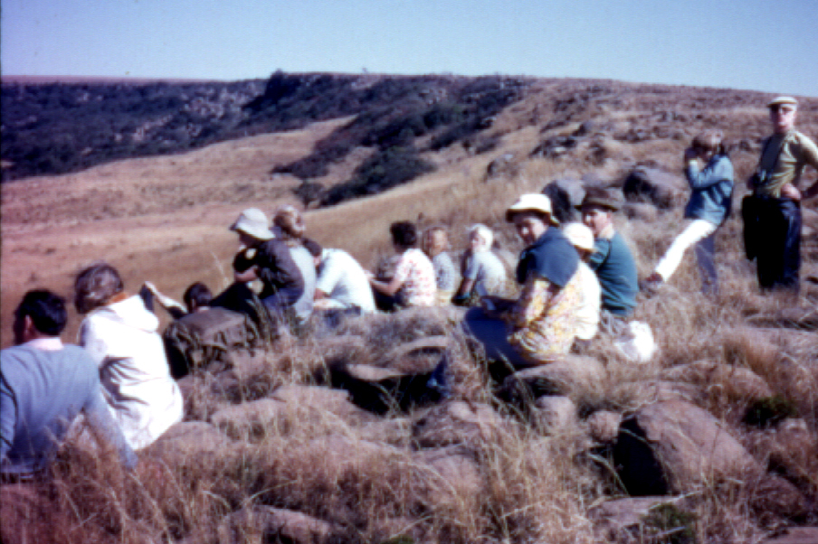 SAMHS members taking a breather in Hlobane, 1971