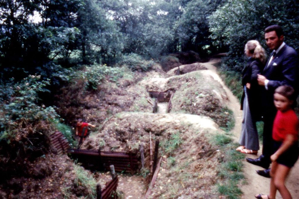Remains of British trenches, 1970