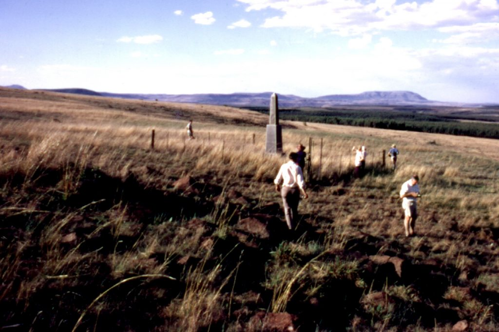 SB, Bob, Tania, Heather, Ken and Darrell, Holkrans Memorial, 1972
