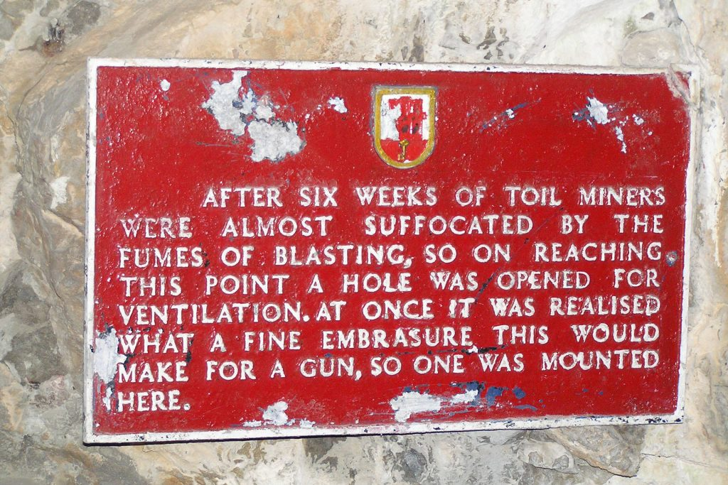 Plaque about gun embrasure