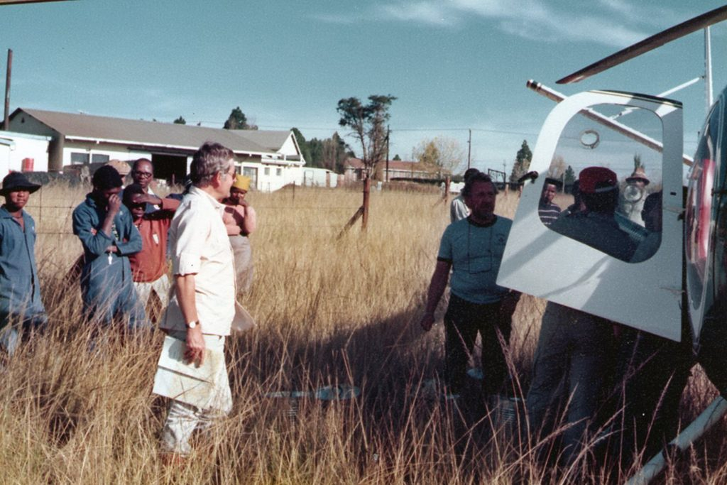 Refueling the helicopter at Estcourt