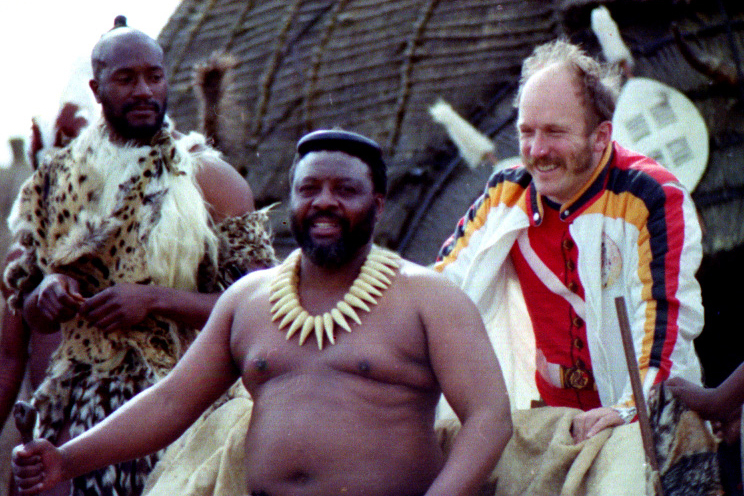 Simon Sibela at Cetswayo's kraal