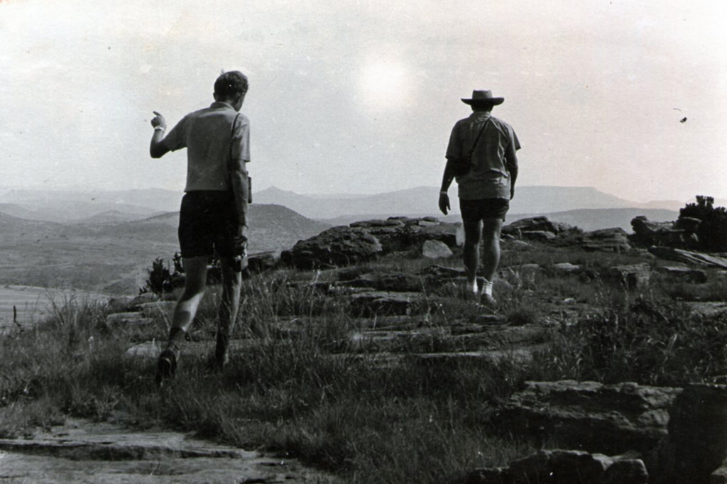 Brian Scott and Midge on the summit of Isandhlwana