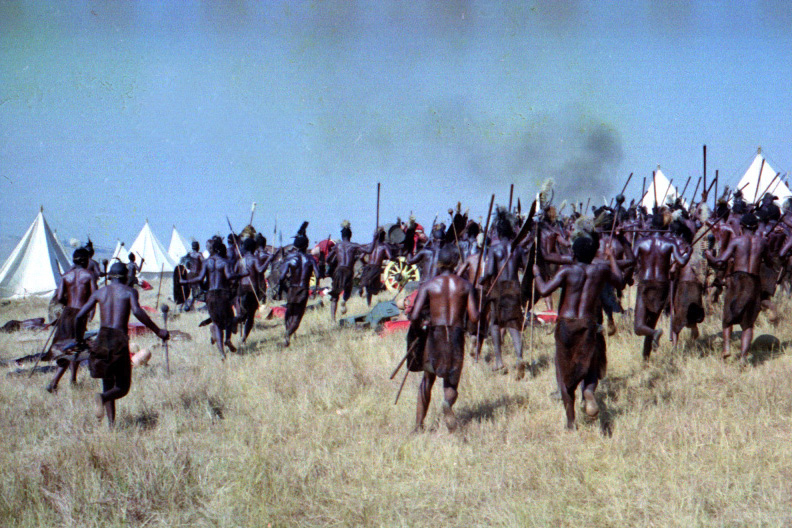 The Zulus attacking