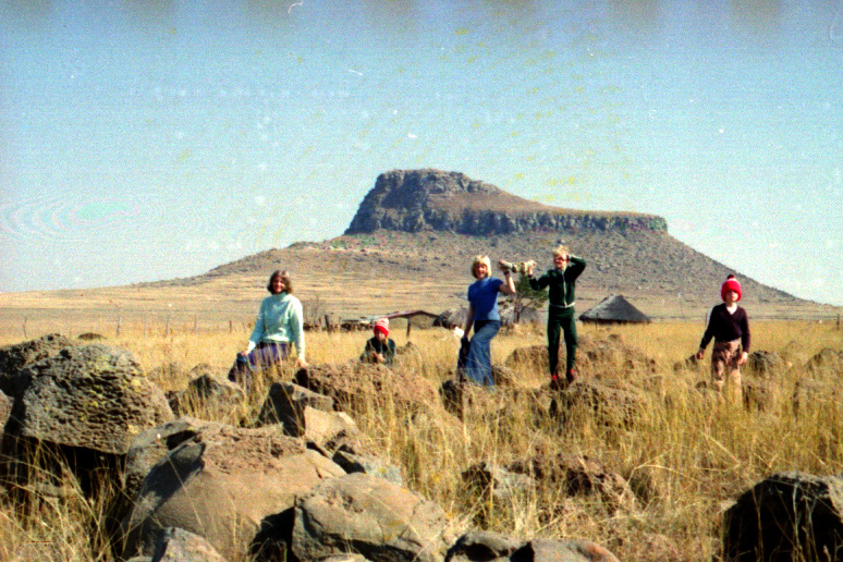 The Carter family on old Isandhlwana Battlesite, 1978