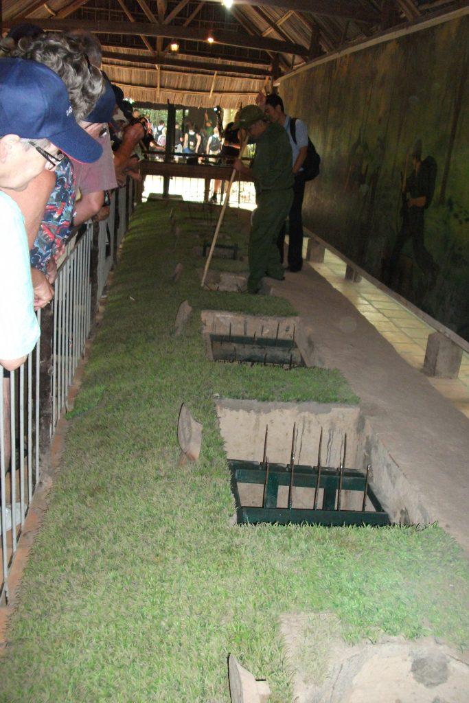 Vietcong anti-personel traps, open
