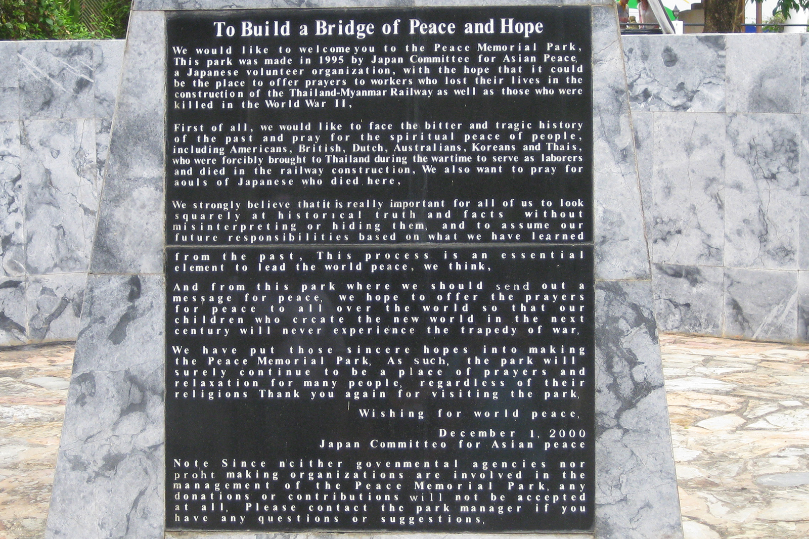 The Japanese message of peace and hope